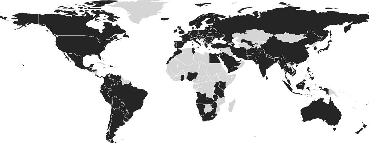 Lightfolio photographers are in based in over 60 countries around the globe.