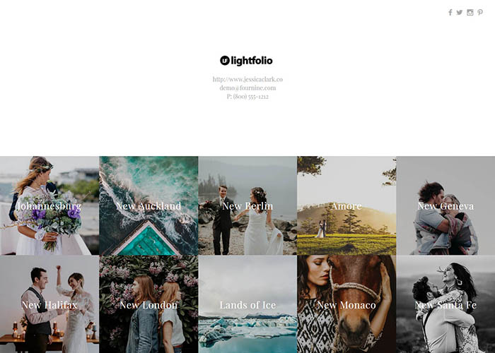 Organize your photos within your customizeable Gallery Directory