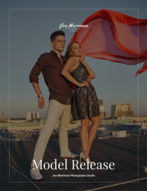 Model release form cover page