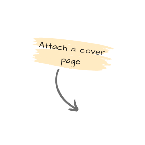 Add a cover page