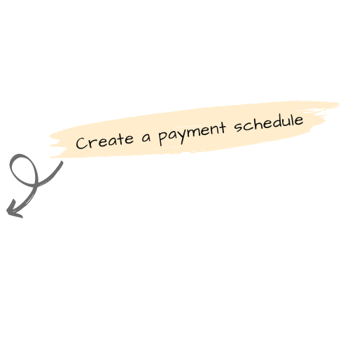 Set up a payment schedule